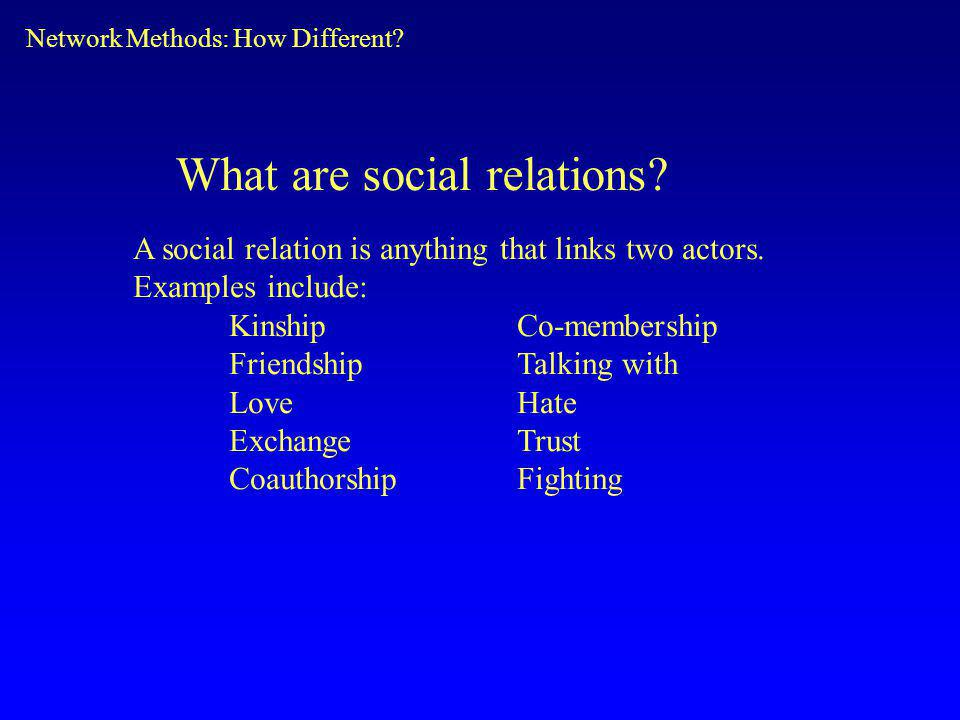 What are social relations