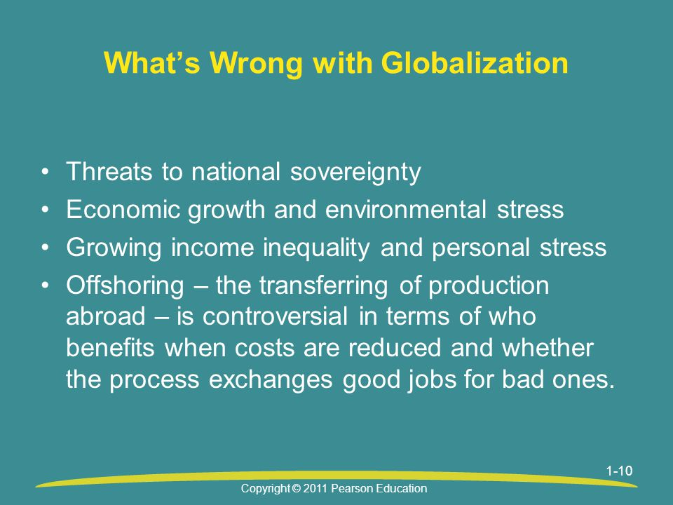 What's Wrong with Globalization