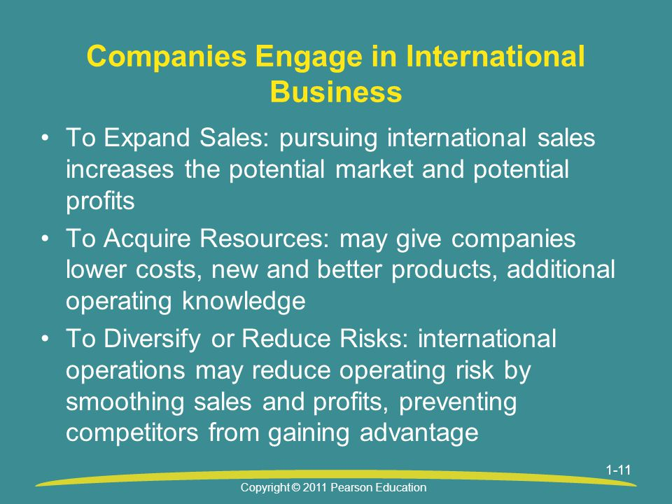 Companies Engage in International Business