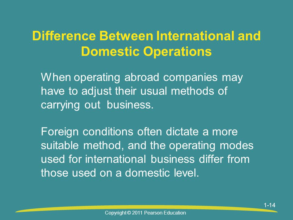 Difference Between International and Domestic Operations