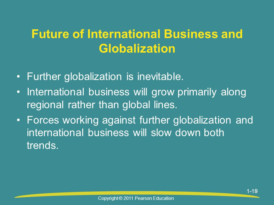 Future of International Business and Globalization