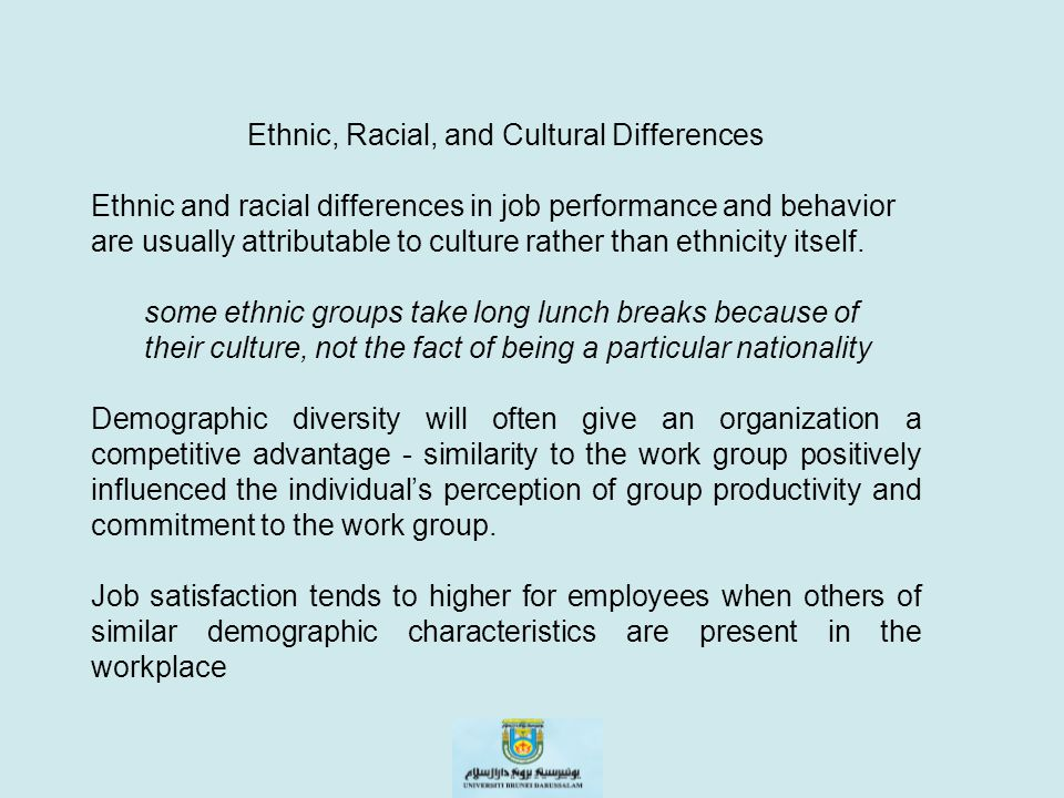 Ethnic, Racial, and Cultural Differences