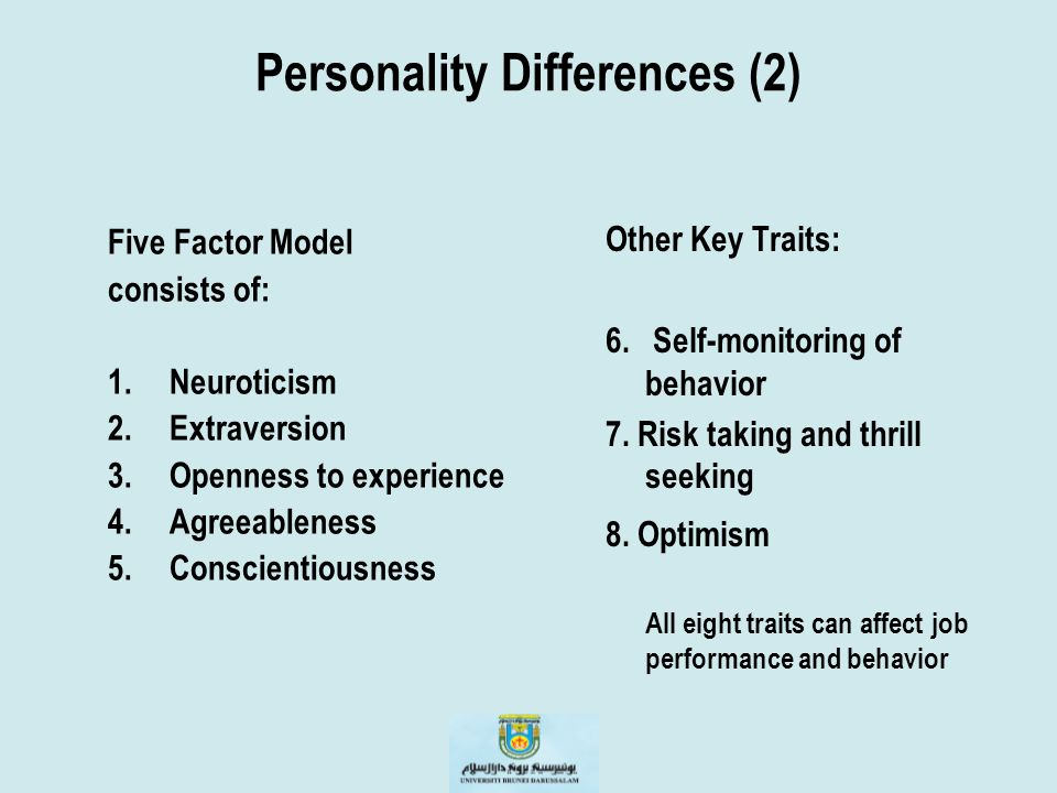 Personality Differences (2)