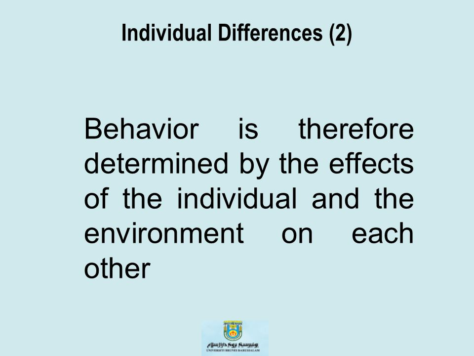 Individual Differences (2)