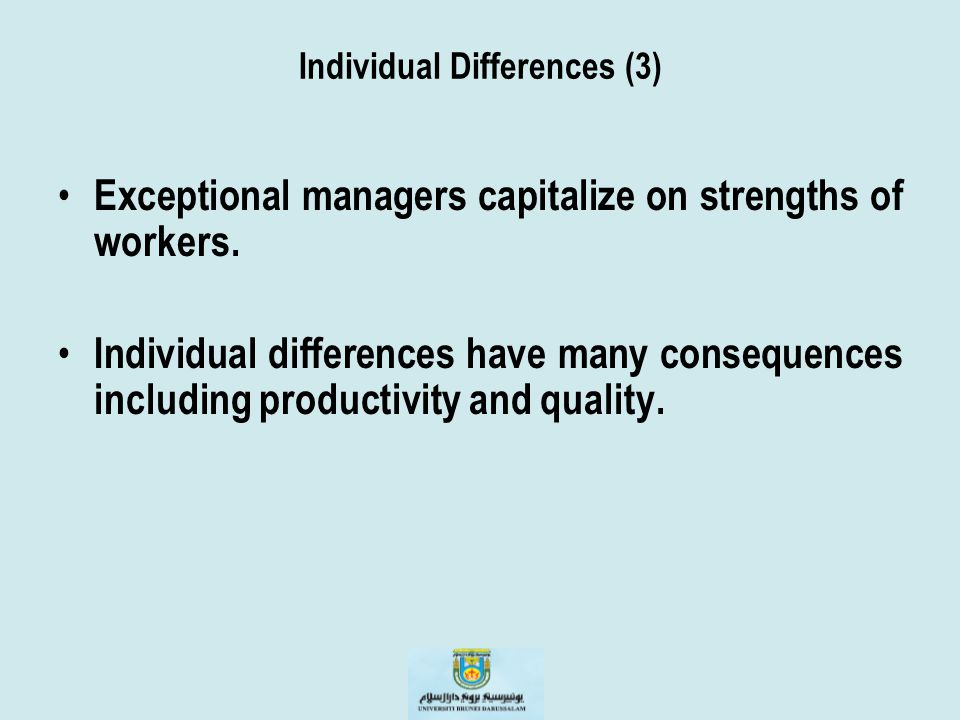 Individual Differences (3)