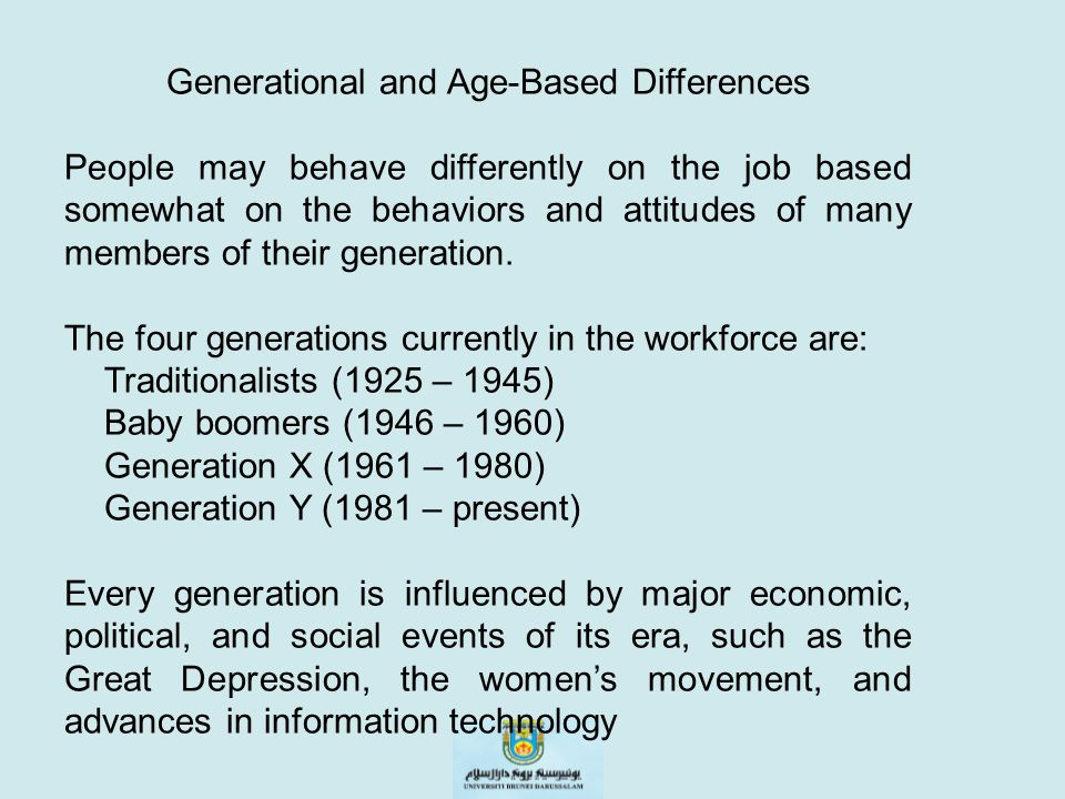 Generational and Age-Based Differences