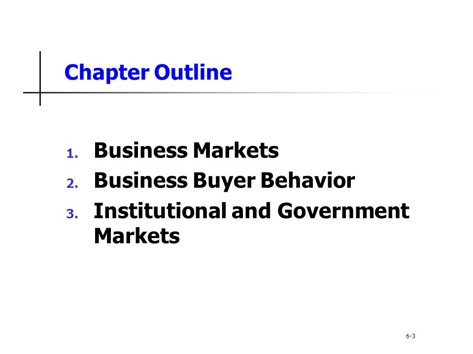 Business Buyer Behavior Institutional and Government Markets