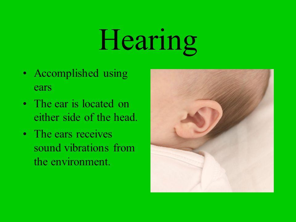 Hearing Accomplished using ears