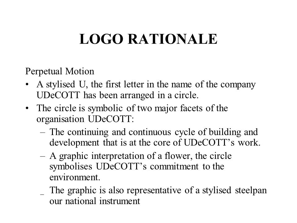 LOGO RATIONALE Perpetual Motion