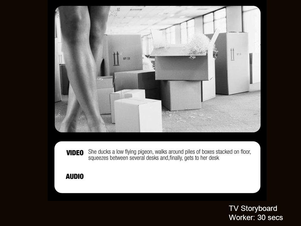 TV Storyboard Worker: 30 secs