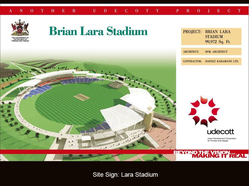 Site Sign: Lara Stadium