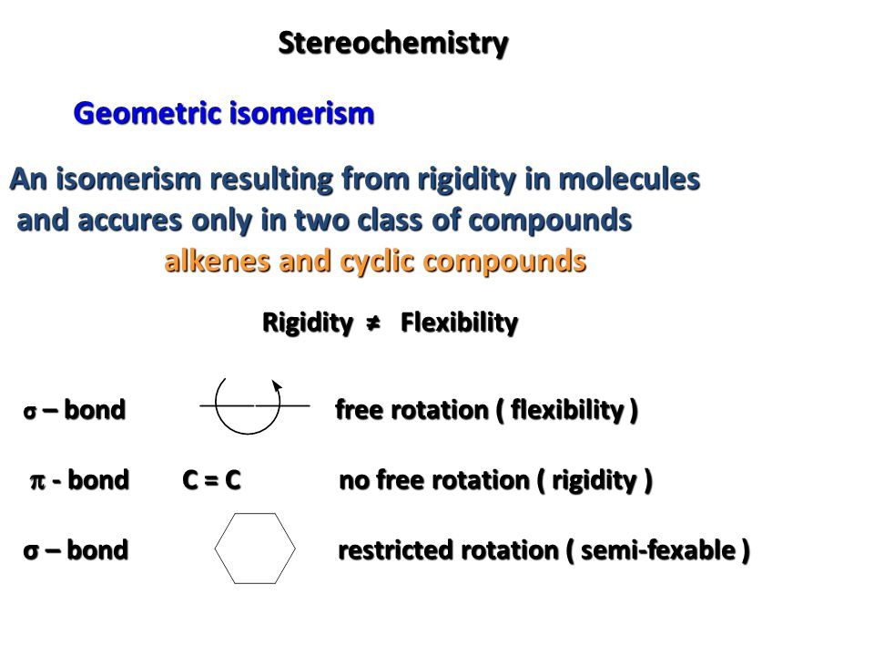 An isomerism resulting from rigidity in molecules