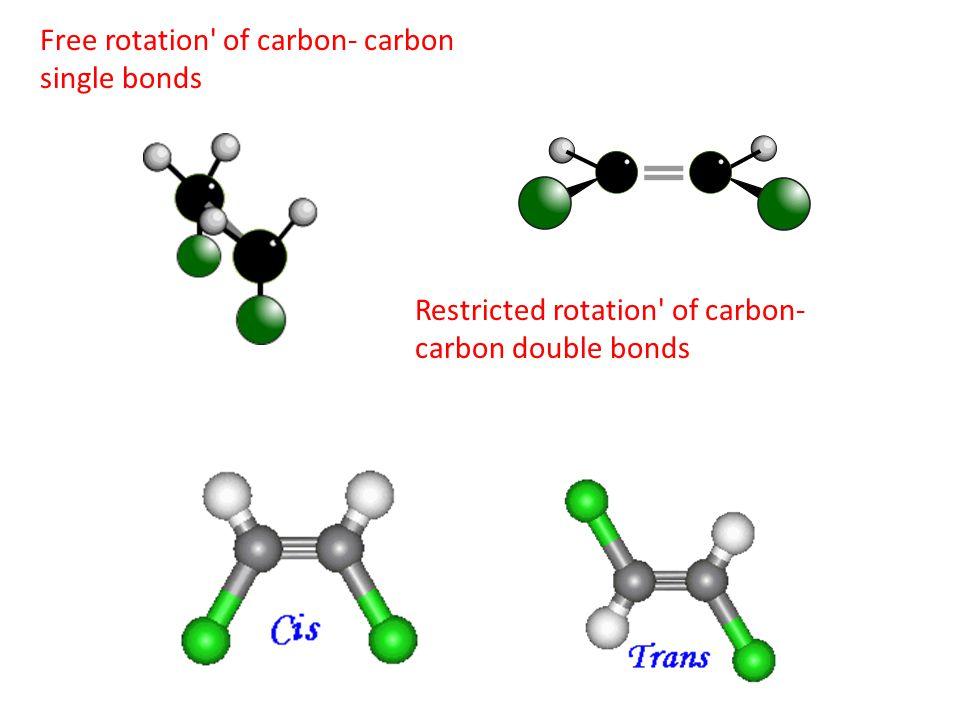 Free rotation of carbon- carbon single bonds