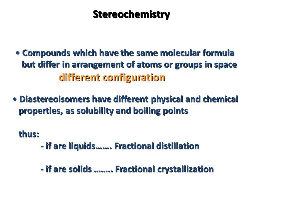 Stereochemistry Stereochemistry