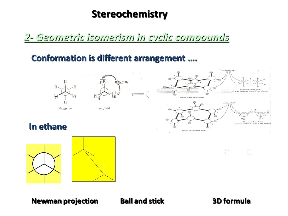 2- Geometric isomerism in cyclic compounds