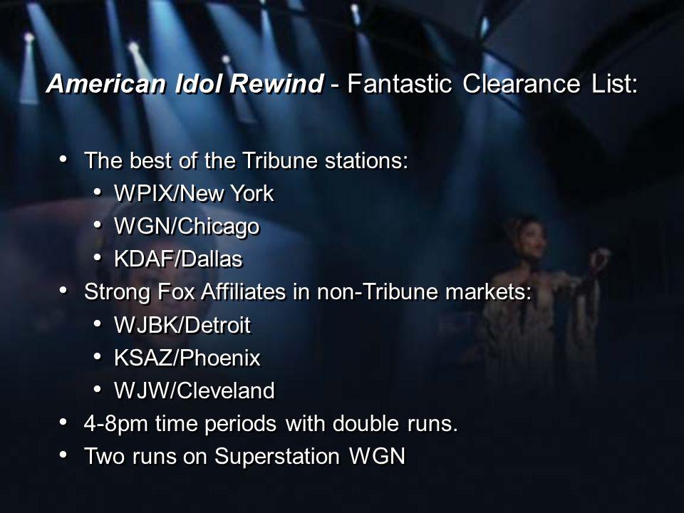 American Idol Rewind - Fantastic Clearance List: