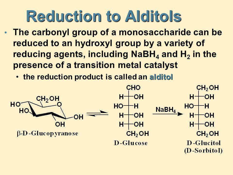 Reduction to Alditols
