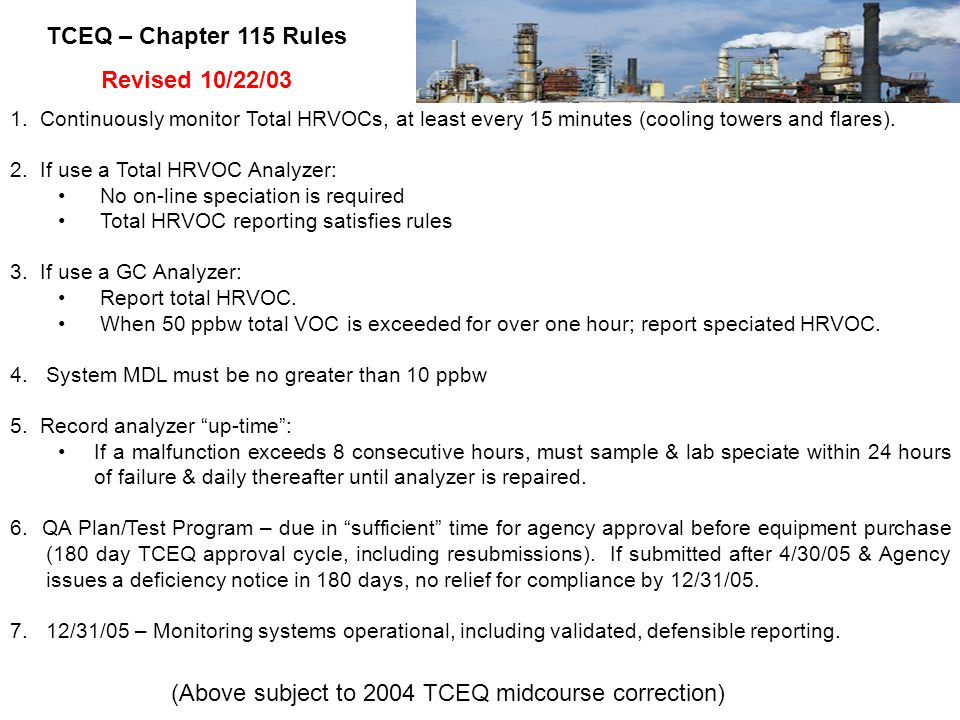 (Above subject to 2004 TCEQ midcourse correction)