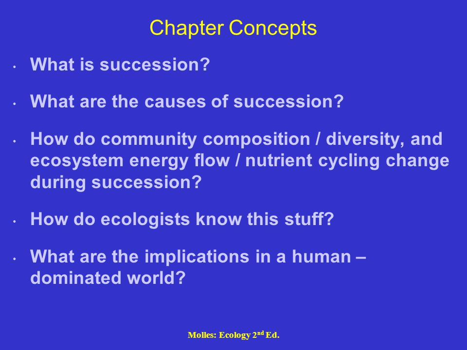 Chapter Concepts What is succession