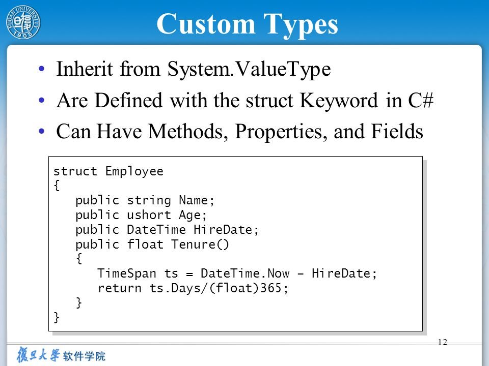 Custom Types Inherit from System.ValueType
