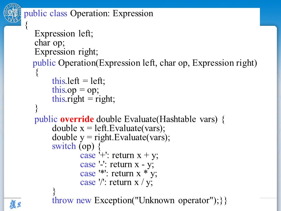 public class Operation: Expression