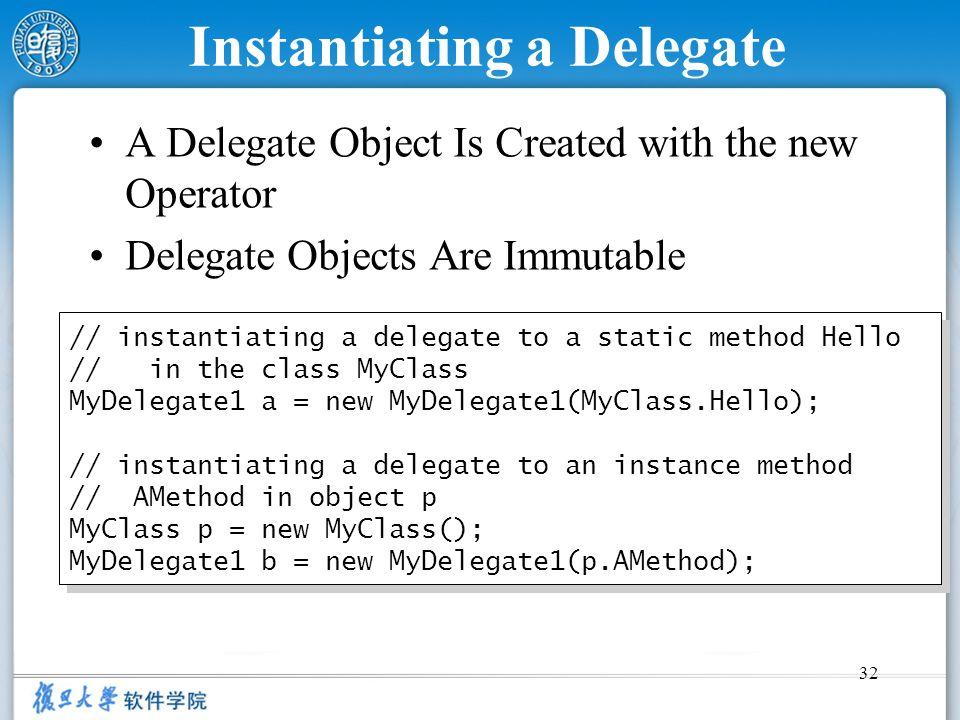Instantiating a Delegate