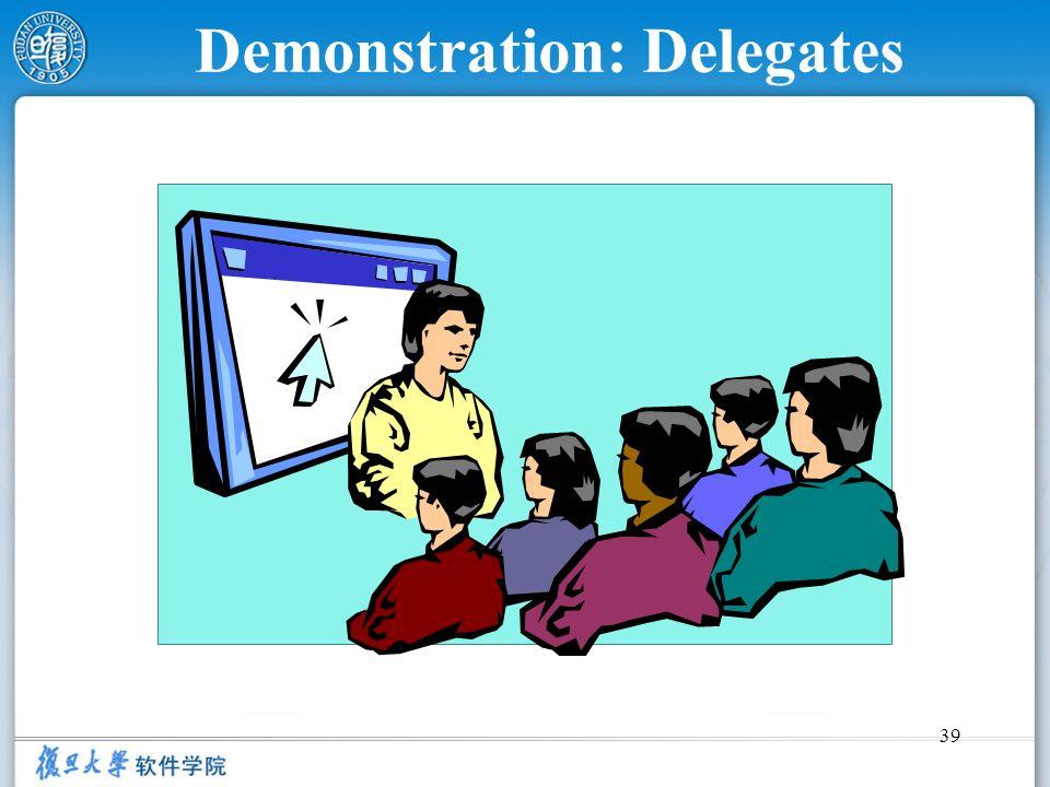 Demonstration: Delegates