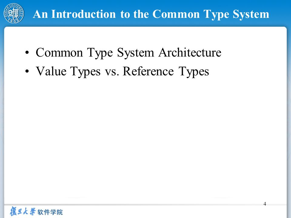 An Introduction to the Common Type System