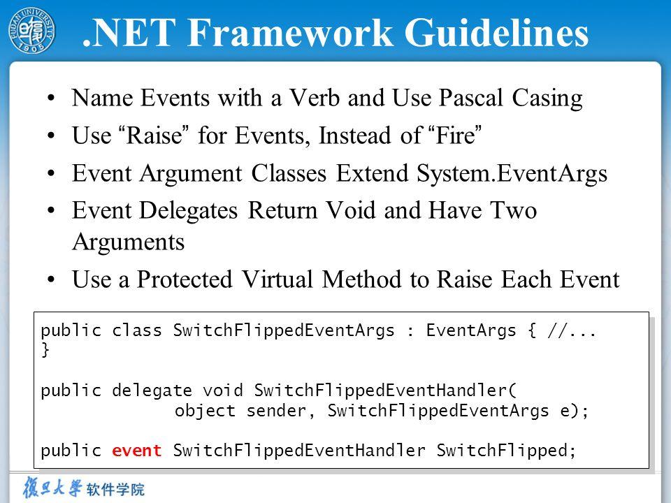 .NET Framework Guidelines