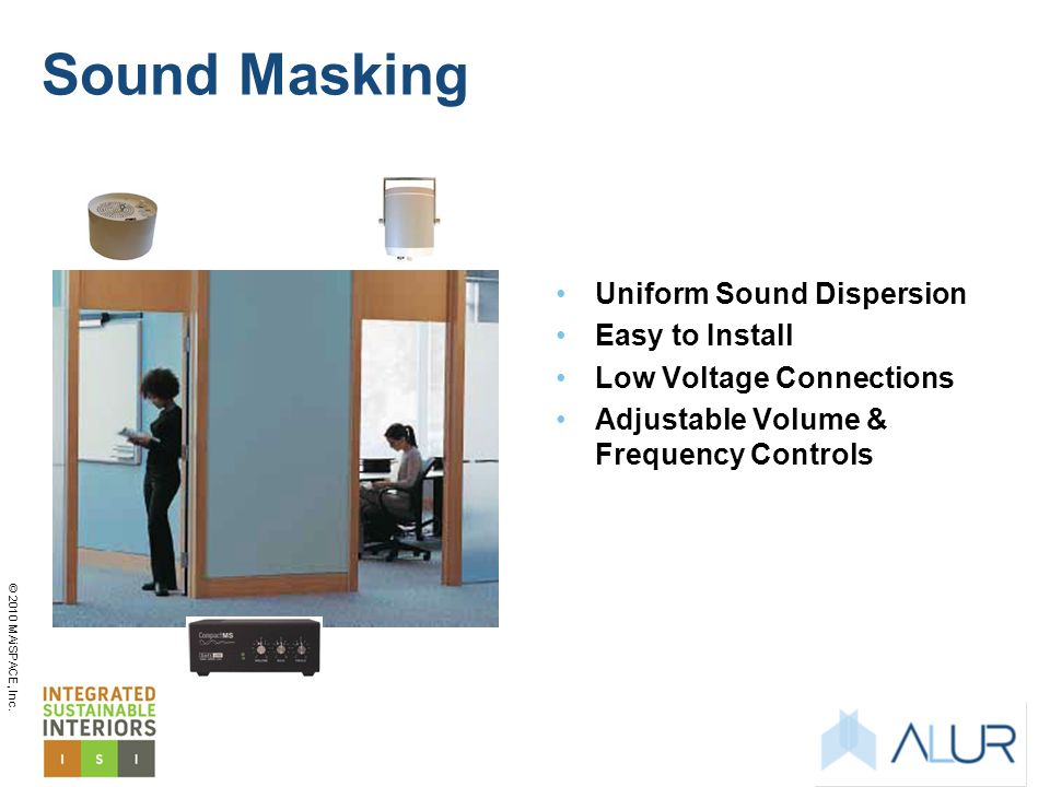 Sound Masking Uniform Sound Dispersion Easy to Install