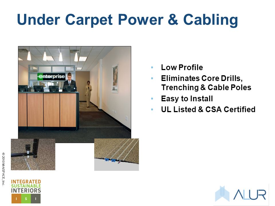 Under Carpet Power & Cabling