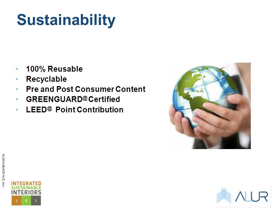 Sustainability 100% Reusable Recyclable Pre and Post Consumer Content