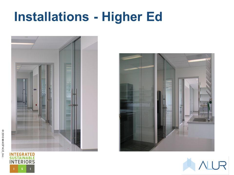 Installations - Higher Ed