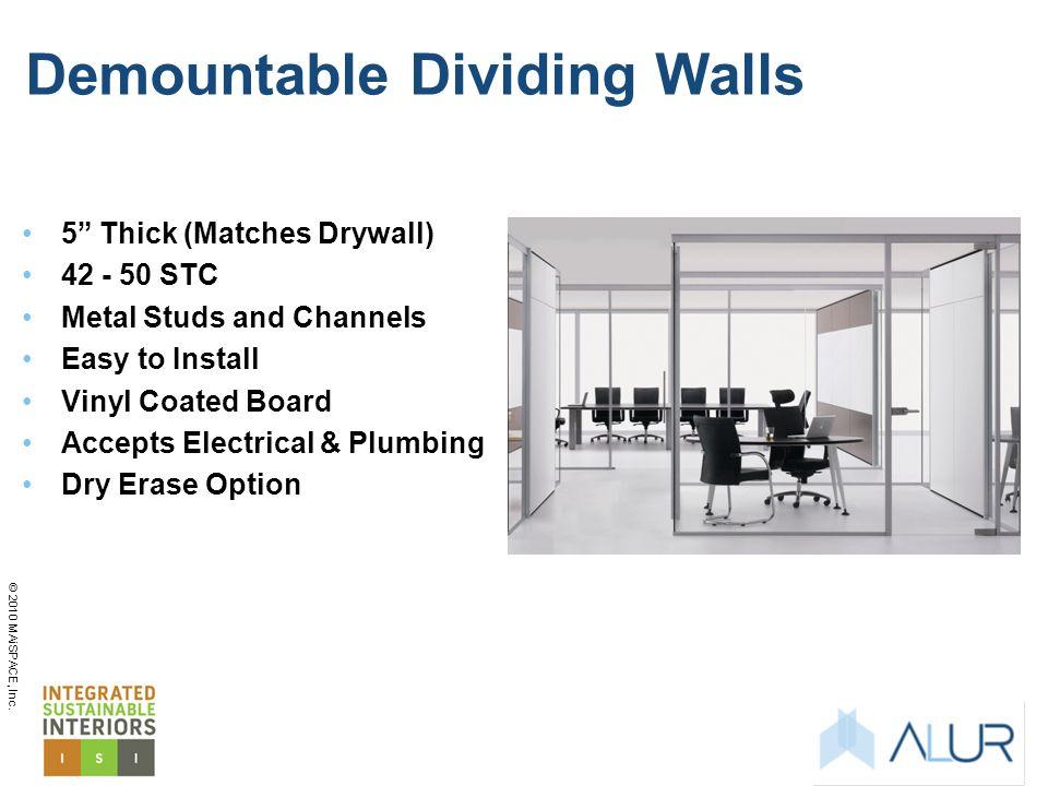Demountable Dividing Walls
