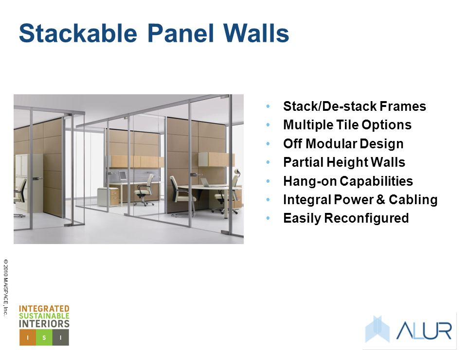 Stackable Panel Walls Stack/De-stack Frames Multiple Tile Options