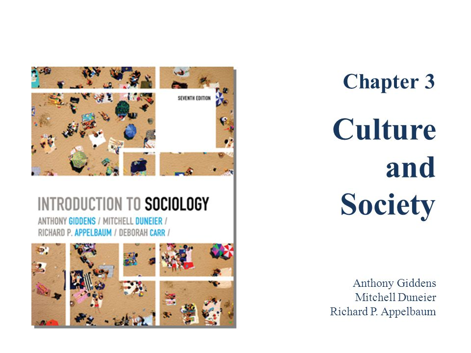 Culture and Society Chapter 3 Anthony Giddens Mitchell Duneier