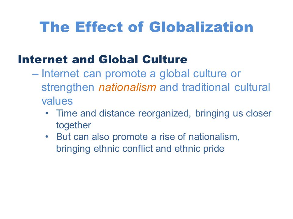 The Effect of Globalization