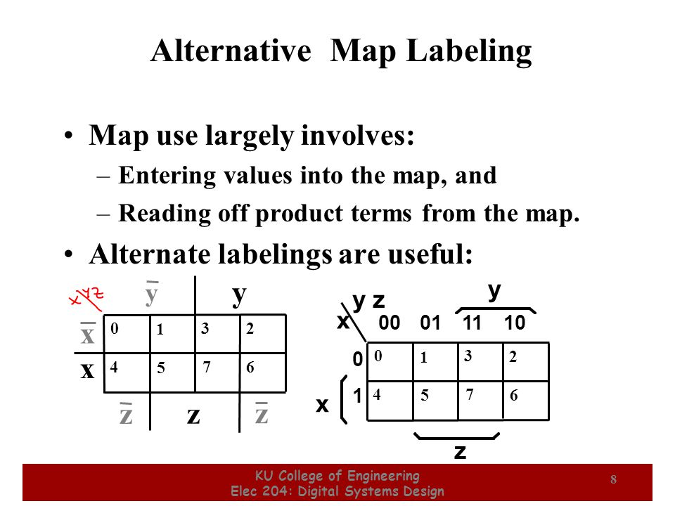 Alternative Map Labeling