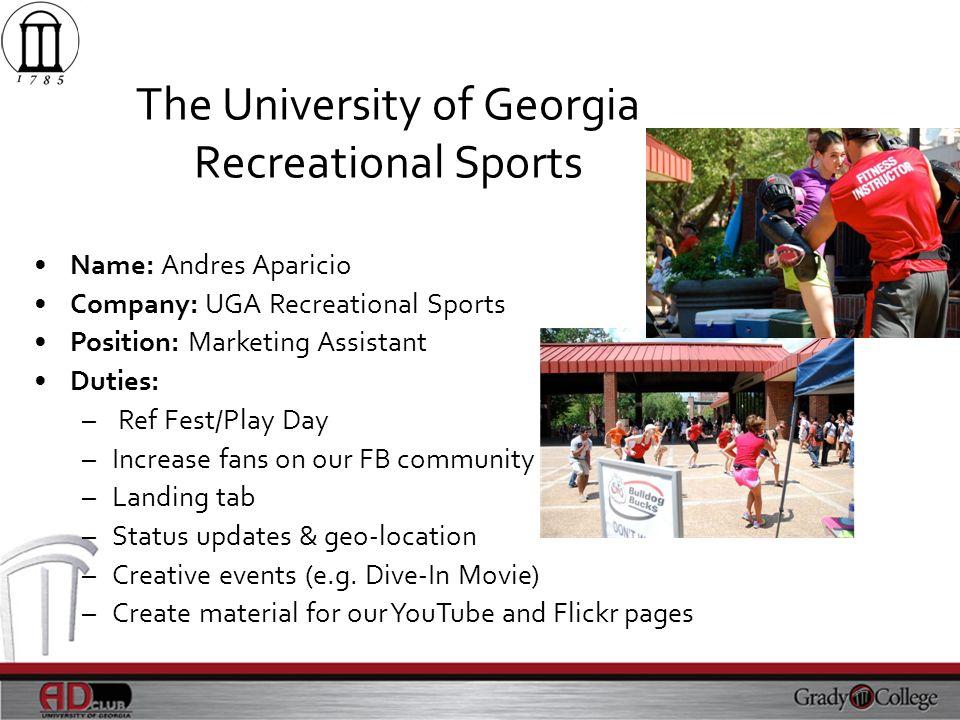 The University of Georgia Recreational Sports