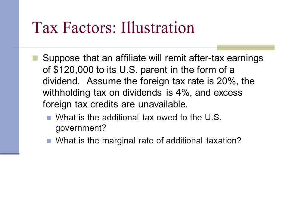 Tax Factors: Illustration