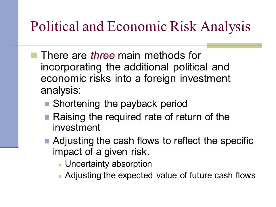 Political and Economic Risk Analysis