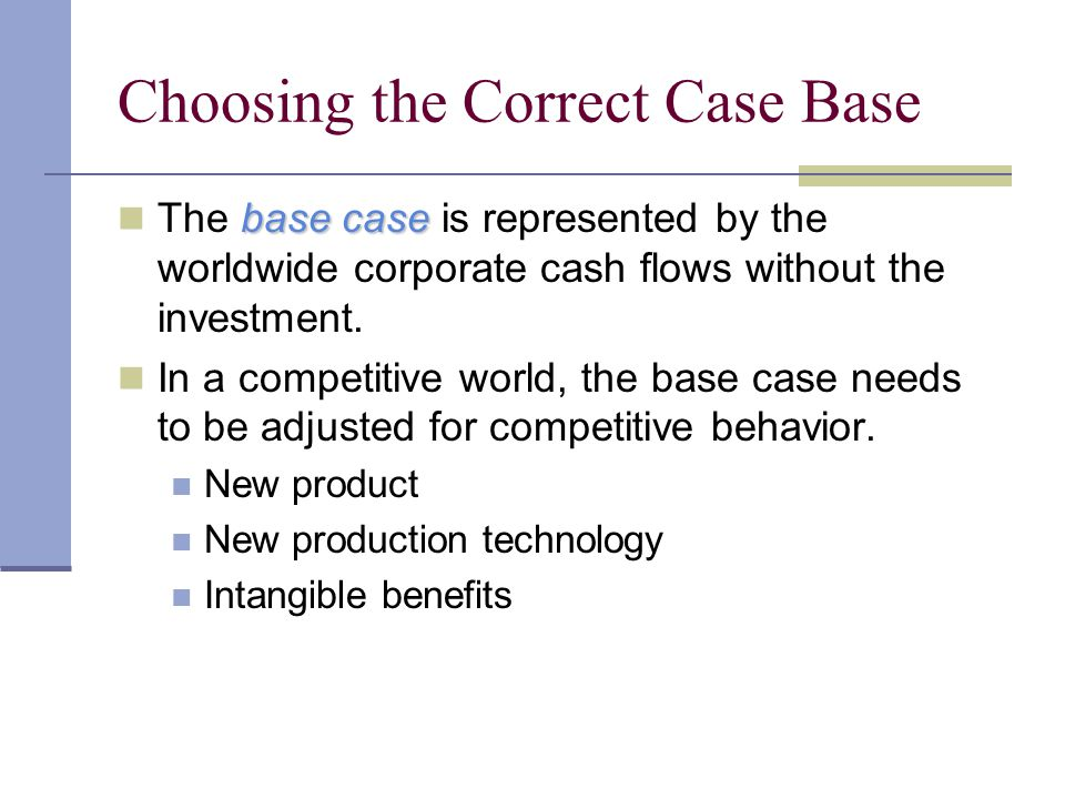 Choosing the Correct Case Base