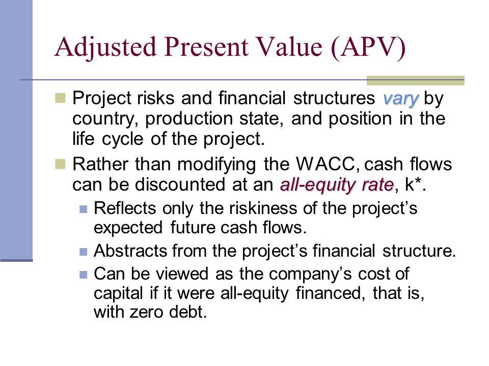 Adjusted Present Value (APV)