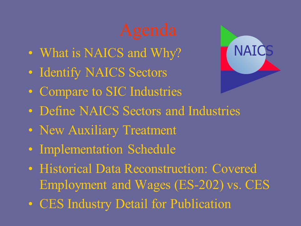 Agenda NAICS What is NAICS and Why Identify NAICS Sectors