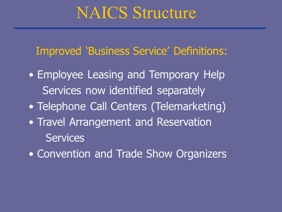 Improved 'Business Service' Definitions:
