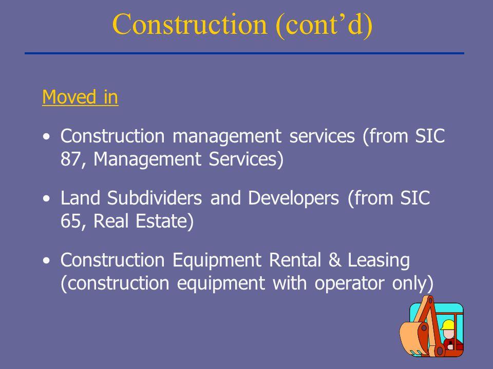 Construction (cont'd)