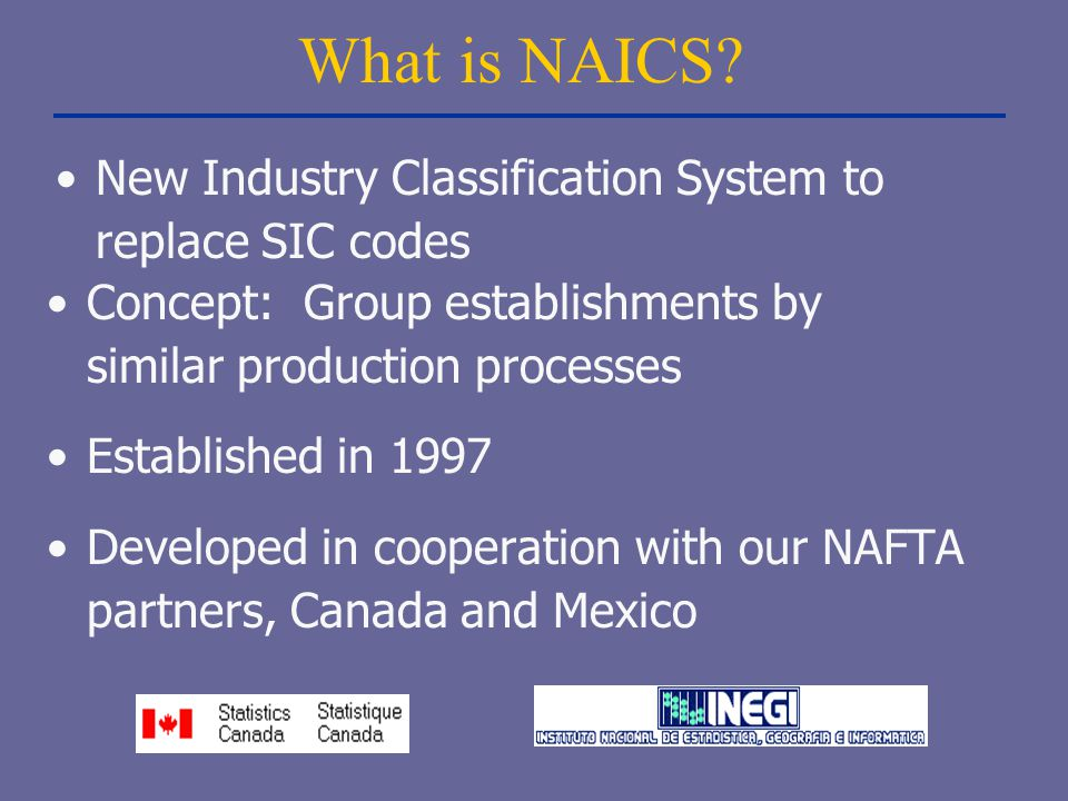 What is NAICS New Industry Classification System to replace SIC codes