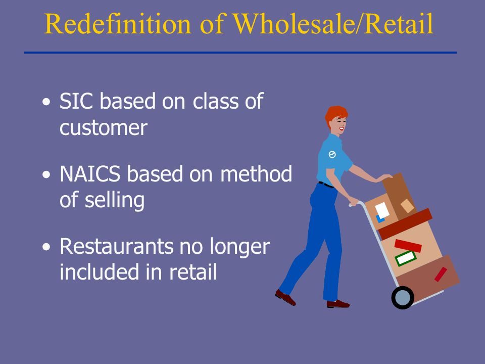 Redefinition of Wholesale/Retail