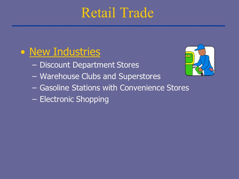 Retail Trade New Industries Discount Department Stores