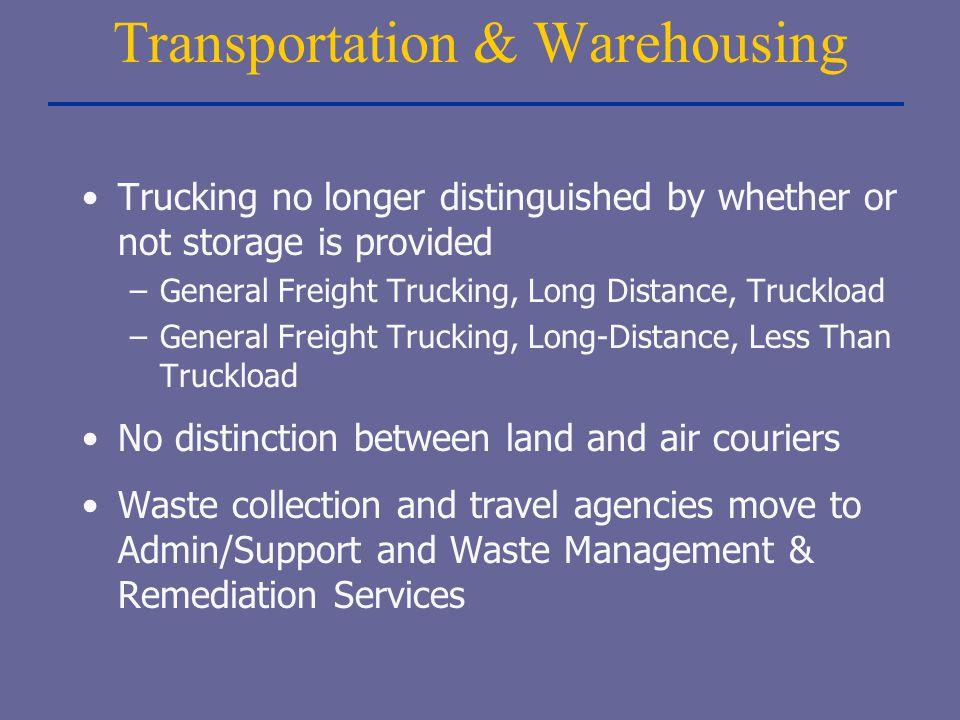 Transportation & Warehousing